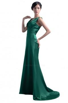 Trumpet/Mermaid V-Neck Long Satin Bridesmaid Dresses/Wedding Party Dresses BD010106