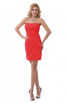 Short/Mini Strapless Bridesmaid Dresses/Wedding Party Dresses BD010129