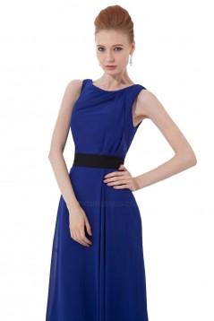A-Line Royal Blue Long Chiffon Bridesmaid Dresses/Wedding Party Dresses BD010131