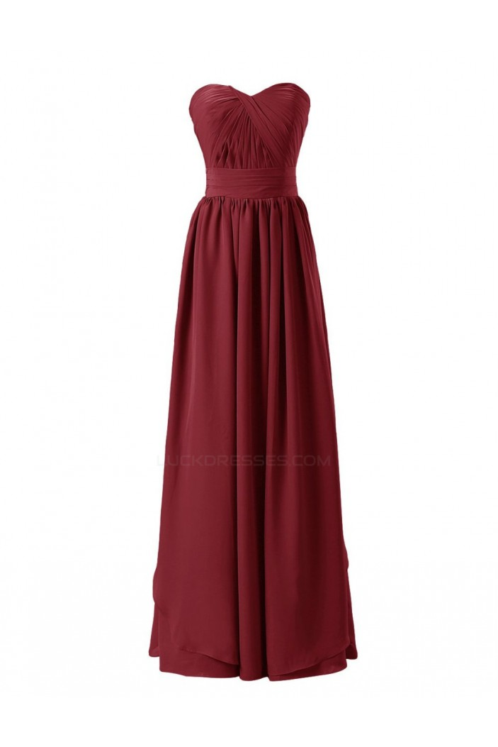 Sheath/Column Sweetheart Long Chiffon Bridesmaid Dresses/Wedding Party Dresses BD010133