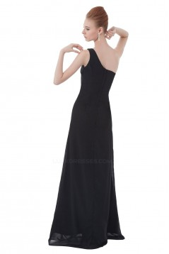 Sheath/Column One-Shoulder Long Black Bridesmaid Dresses/Wedding Party Dresses BD010134