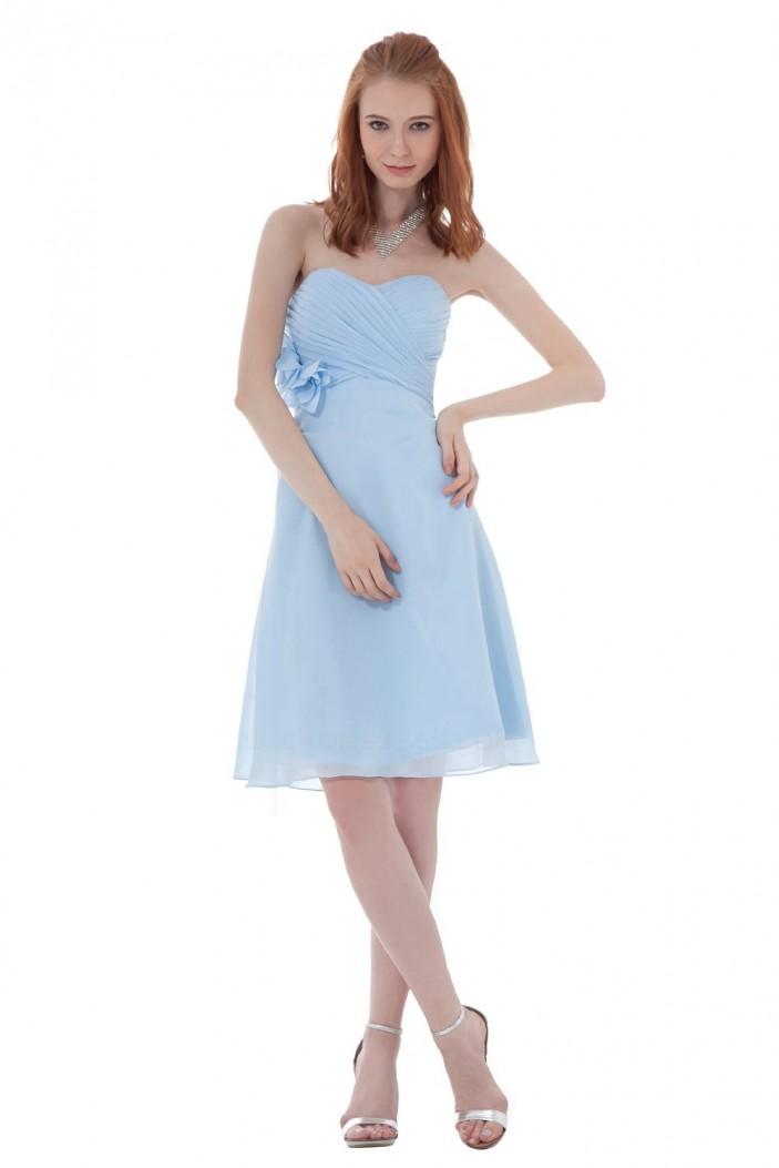 A-Line Sweetheart Short Blue Bridesmaid Dresses/Wedding Party Dresses BD010135