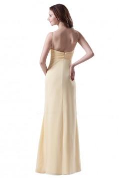A-Line Spaghetti Strap Chiffon Long Bridesmaid Dresses/Wedding Party Dresses BD010151