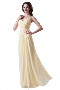 A-Line Spaghetti Strap Chiffon Long Bridesmaid Dresses/Wedding Party Dresses BD010151