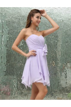 A-Line Sweetheart Short/Mini Chiffon Bridesmaid Dresses/Wedding Party Dresses BD010162