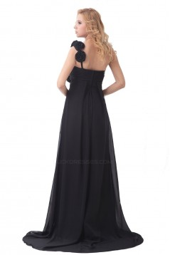 Empire One-Shoulder Long Chiffon Bridesmaid Dresses/Wedding Party Dresses/Maternity Dresses BD010164