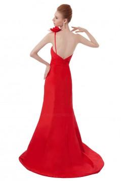 Trumpet/Mermaid One-Shoulder Long Red Bridesmaid Dresses/Wedding Party Dresses BD010166