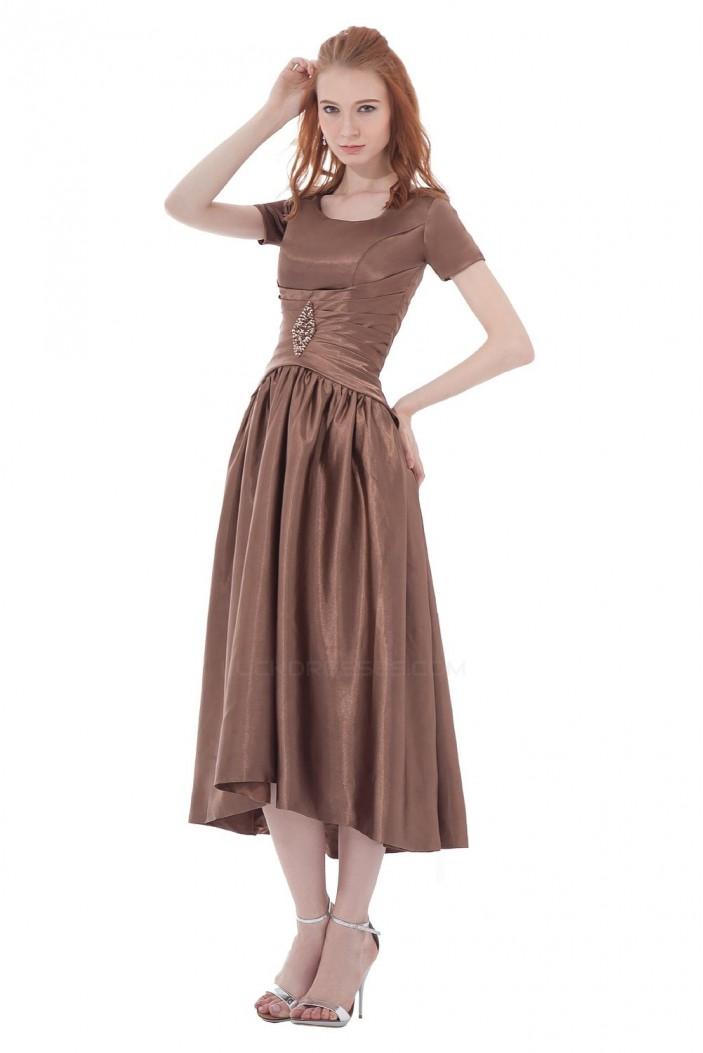 A-Line Short Sleeve Short Bridesmaid Dresses/Wedding Party Dresses BD010169
