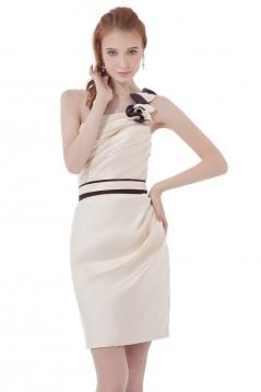 Short/Mini One-Shoulder Bridesmaid Dresses/Wedding Party Dresses BD010172
