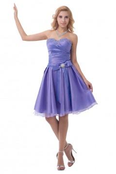 A-Line Short Beaded Purple Bridesmaid Dresses/Wedding Party Dresses BD010175