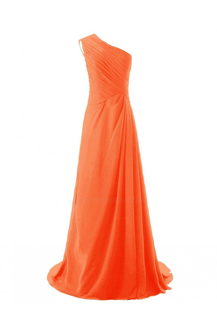 A-Line One-Shoulder Long Chiffon Bridesmaid Dresses/Wedding Party Dresses BD010181
