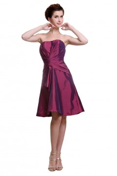 A-Line Strapless Short Bridesmaid Dresses/Wedding Party Dresses BD010184