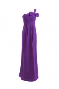 Sheath/Column One-Shoulder Long Chiffon Bridesmaid Dresses/Wedding Party Dresses BD010196