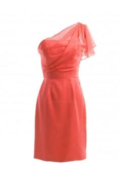 Short/Mini One-Shoulder Bridesmaid Dresses/Wedding Party Dresses BD010199