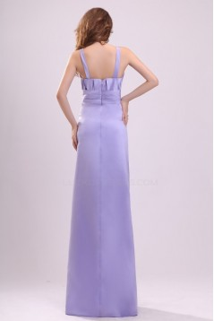 A-Line Straps Floor-Length Satin Bridesmaid Dresses/Wedding Party Dresses BD010201
