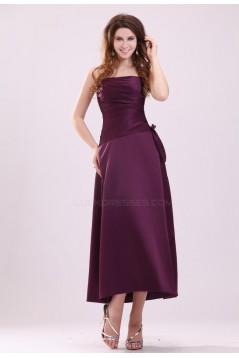 A-Line Strapless Short Bridesmaid Dresses/Wedding Party Dresses BD010202