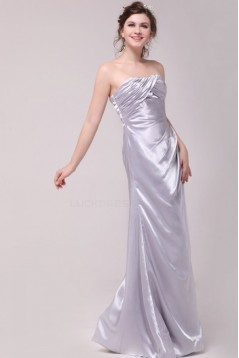 A-Line Strapless Floor-Length Bridesmaid Dresses/Wedding Party Dresses BD010205