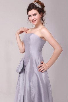 A-Line Strapless Floor-Length Bridesmaid Dresses/Wedding Party Dresses BD010206
