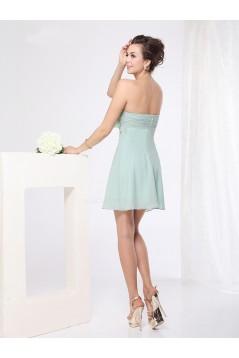 Short/Mini Sweetheart Beaded Chiffon Bridesmaid Dresses/Wedding Party Dresses BD010229