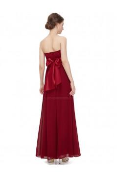 A-Line Empire Strapless Floor-Length Chiffon Bridesmaid Dresses/Wedding Party Dresses/Maternity Dresses BD010247
