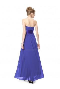 A-Line Empire Strapless Long Chiffon Bridesmaid Dresses/Wedding Party Dresses/Maternity Dresses BD010254