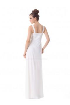 Empire Long White Chiffon Bridesmaid Dresses/Wedding Party Dresses/Maternity Evening Dresses BD010258