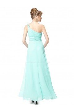 A-Line One-Shoulder Long Chiffon Bridesmaid Dresses/Evening Dresses BD010263