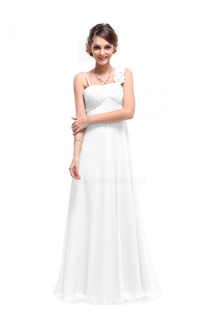Empire Long White Chiffon Bridesmaid Dresses/Evening Dresses/Maternity Dresses BD010282