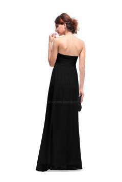 Empire Long Black Chiffon Bridesmaid Dresses/Evening Dresses/Maternity Dresses BD010283