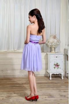 A-Line Strapless Short Chiffon Bridesmaid Dresses/Wedding Party Dresses BD010305