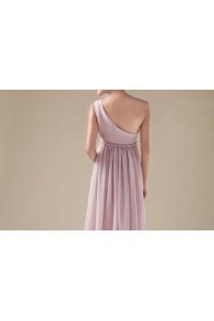 Empire One-Shoulder Long Chiffon Bridesmaid Dresses/Evening Dresses/Maternity Dresses BD010311