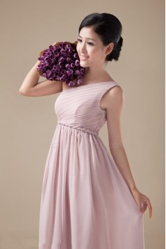 Empire One-Shoulder Long Chiffon Bridesmaid Dresses/Evening Dresses/Maternity Dresses BD010311