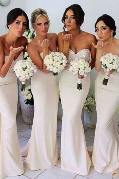Mermaid Sweetheart Sequins Long Bridesmaid Dresses/Wedding Party Dresses BD010323