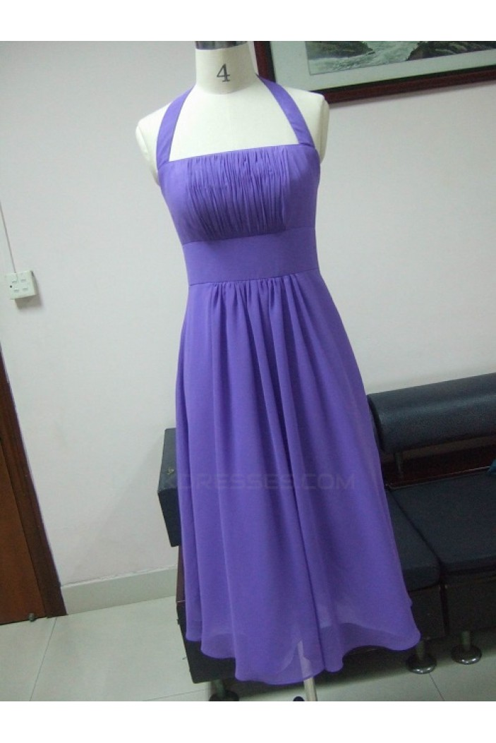 A-Line Halter Short Chiffon Bridesmaid Dresses/Wedding Party Dresses BD010330