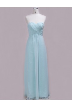 A-Line Sweetheart Long Chiffon Bridesmaid Dresses/Wedding Party Dresses BD010339