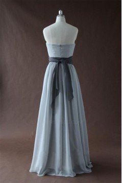 A-Line Strapless Long Chiffon Bridesmaid Dresses/Wedding Party Dresses BD010341