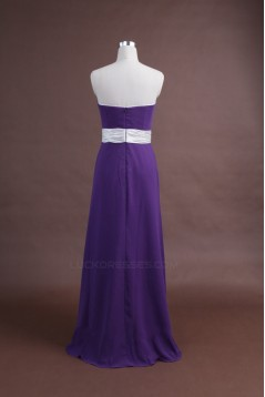 A-Line Strapless Long Purple Chiffon Bridesmaid Dresses/Wedding Party Dresses BD010343
