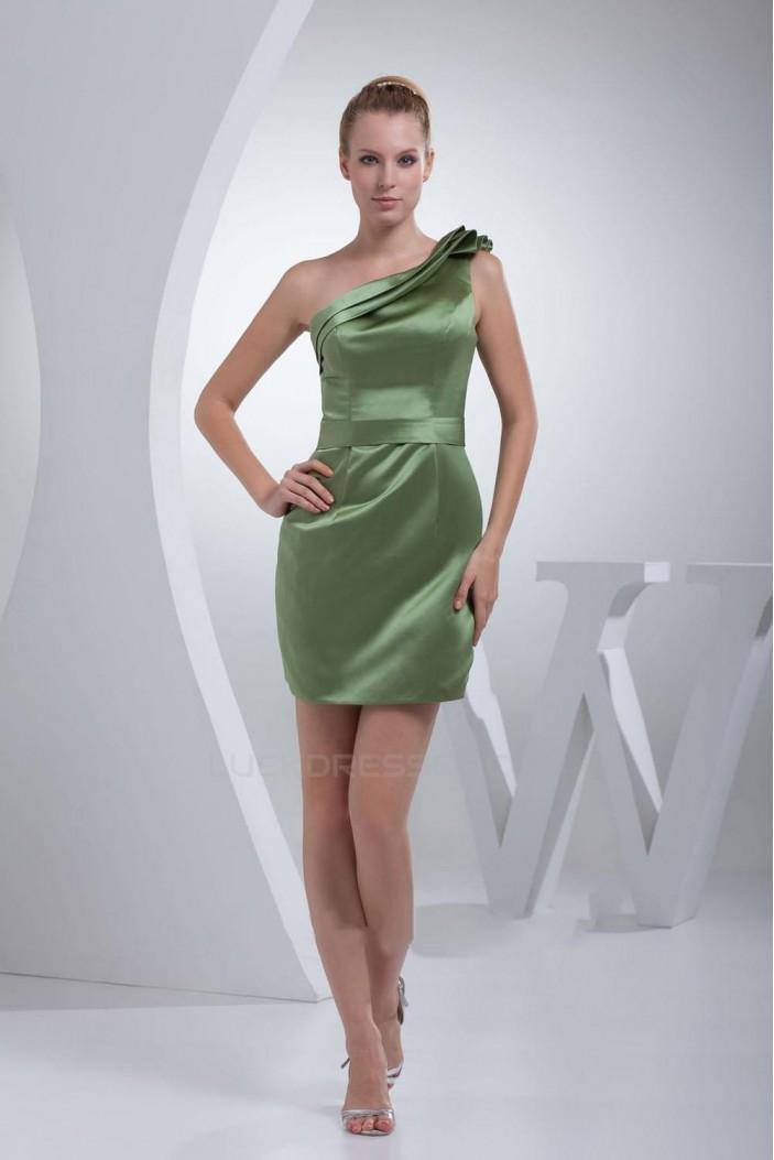 Short/Mini One-Shoulder Bridesmaid Dresses/Wedding Party Dresses BD010347