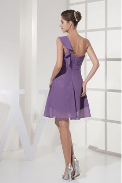 A-Line One-Shoulder Short Chiffon Bridesmaid Dresses/Wedding Party Dresses BD010348
