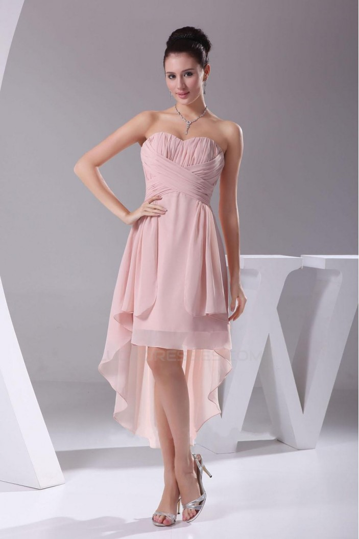 High Low Sweetheart Chiffon Bridesmaid Dresses/Wedding Party Dresses BD010350