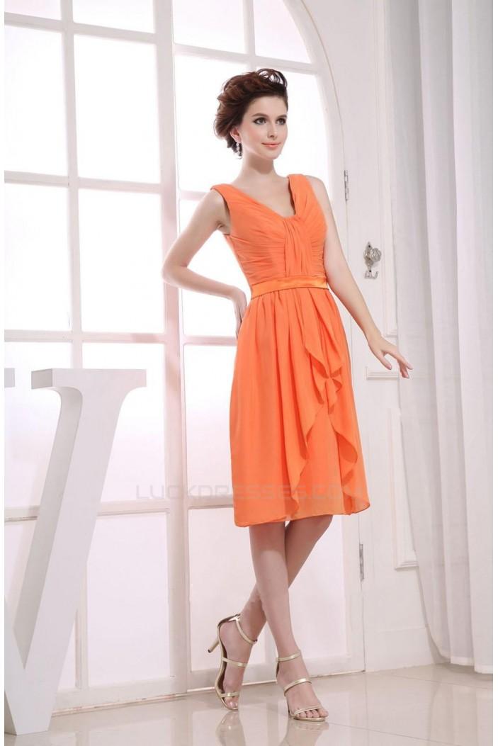 A-Line Short Chiffon Bridesmaid Dresses/Wedding Party Dresses BD010354