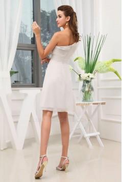 A-Line One-Shoulder Short/Mini Chiffon Bridesmaid Dresses/Wedding Party Dresses BD010359