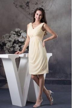 Short/Mini Yellow Chiffon Bridesmaid Dresses/Wedding Party Dresses BD010360
