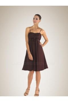 A-Line Spaghetti Strap Chiffon Bridesmaid Dresses/Wedding Party Dresses BD010366