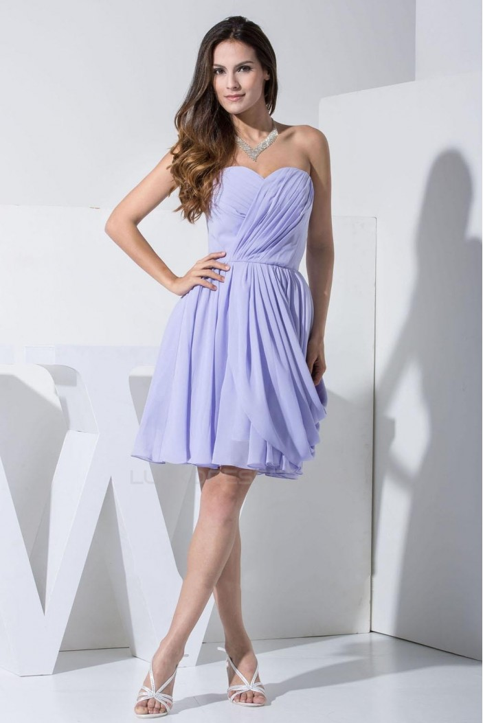 A-Line Sweetheart Short Chiffon Bridesmaid Dresses/Wedding Party Dresses BD010377