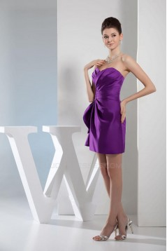 Short/Mini Sweetheart Purple Bridesmaid Dresses/Wedding Party Dresses BD010379