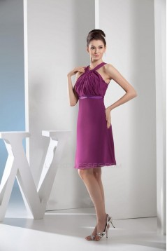A-Line Short Chiffon Bridesmaid Dresses/Wedding Party Dresses BD010380
