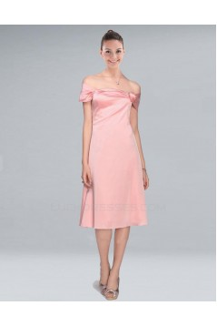 A-Line Short Pink Bridesmaid Dresses/Wedding Party Dresses BD010384
