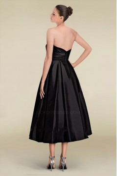 A-Line Sweetheart Short Black Bridesmaid Dresses/Wedding Party Dresses BD010387