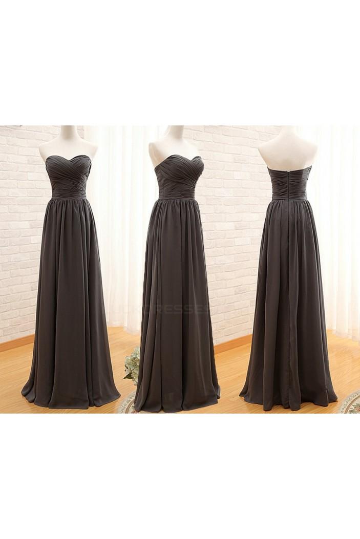 A-Line Sweetheart Long Chiffon Bridesmaid Dresses/Wedding Party Dresses BD010391